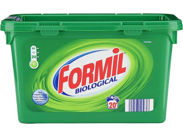 Lidl Formil Biological Liquid Capsules Washing Powder And