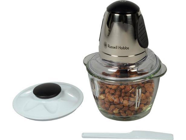 russell hobbs 14568 200w mini food processor chopper in brushed chrome black a. Black Bedroom Furniture Sets. Home Design Ideas