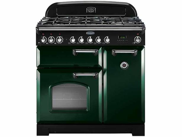 rangemaster classic 90 dual fuel racing green range cooker. Black Bedroom Furniture Sets. Home Design Ideas